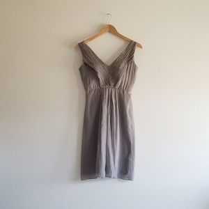 Gray J Crew Short Bridesmaid Formal Silk Dress
